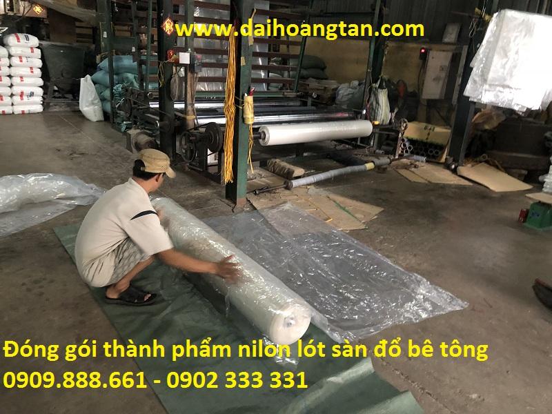 bảng giá ni lông lót sàn đổ bê tông
