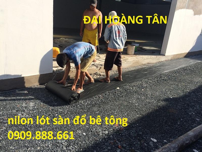 Báo giá nilon lót sàn đổ bê tông
