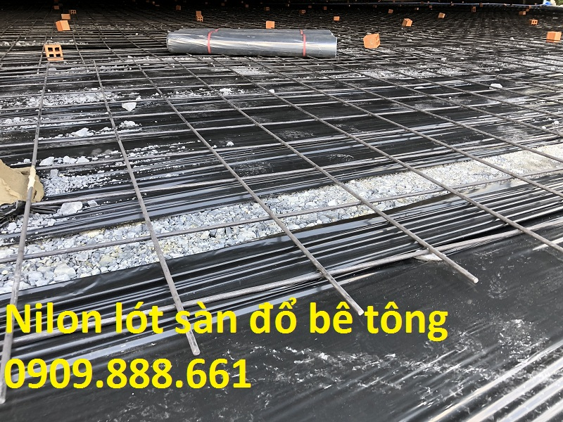 nilon lót sàn đổ bê tông
